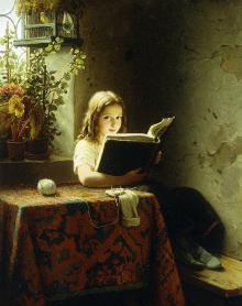 a-girl-reading-johann-georg-meyer